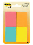 3M Post-It Note Sm World Of Color 4 Pack
