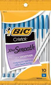 Bic Cristal Xtra Smooth 10 Pack Blue Ink (SKU 1002940444)