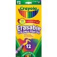 Crayola Erasable Colored Pencils Assorted Colors 12 Pack