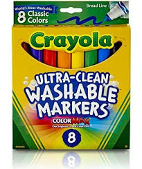 Crayola Washable Markers Broad Assorted Colors 8 Pack (SKU 1027826045)