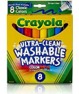 Crayola Washable Markers Broad Assorted Colors 8 Pack