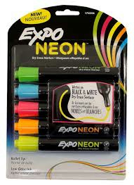 Expo Neon Dry Erase Markers - 3 Pk (SKU 1036837445)
