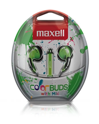 Maxell Colorbuds W/ Mic Green