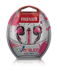 Maxell Colorbuds W/ Mic Pink