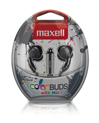 Maxell Earbuds W/ Mic Silver