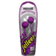 Maxell Jelleez Soft Comfort Earbuds Purple
